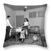 Puerto Rico Family Dinner Throw Pillow