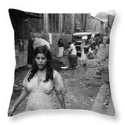 Puerto Rico Slum, 1942 Throw Pillow