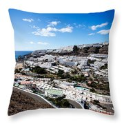Puerto Rico Spain Throw Pillow