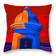 Puerto Rico Turret Throw Pillow