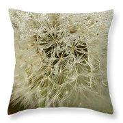 Puff Dandelion Throw Pillow