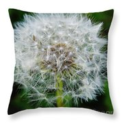 Puff The Dandelion Throw Pillow