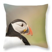 Puffin Profile Throw Pillow