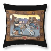 Pug Ugly M.c. Throw Pillow