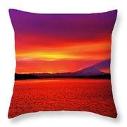 Puget Glory Throw Pillow