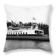 Puget Sound Ferry Boat Throw Pillow