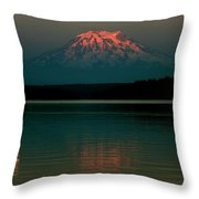 Puget Sound Moonrise Throw Pillow by Benjamin Yeager