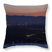 Puget Sound Panorama Throw Pillow