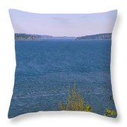 Puget Sound Panoramic Throw Pillow