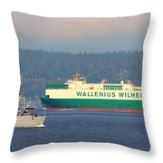 Puget Sound Shipping Waterway Throw Pillow