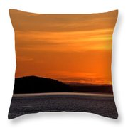 Puget Sound Sunset - Washington Throw Pillow by Brian Harig
