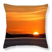 Puget Sound Sunset - Washington Throw Pillow
