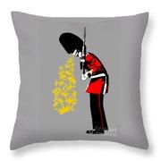 Puke Royal Guard Digital Version Throw Pillow