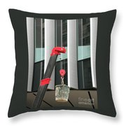 Pulley And Pail Throw Pillow