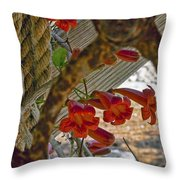 Pulley Wood And Vine Throw Pillow