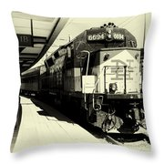 Pulling Into New London Throw Pillow