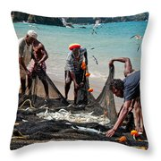 Pulling Seine 2 Throw Pillow by Marion Galt