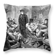 Pullman Car, 1876 Throw Pillow