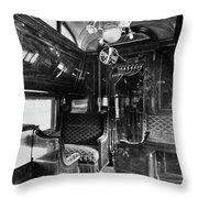 Pullman Car El Fleda Throw Pillow