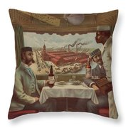 Pullman Compartment Cars Ad Circa 1894 Throw Pillow