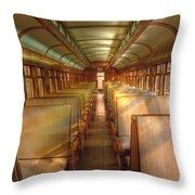 Pullman Porter Train Car Throw Pillow