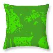 Pulp Fiction Dance Green Throw Pillow