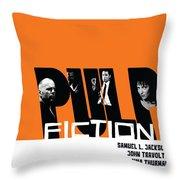 Pulp Fiction Poster Throw Pillow