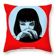Pulp Fiction Poster 3 Throw Pillow