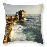 Pulpit Rock In Dorset Throw Pillow