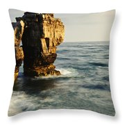 Pulpit Rock On Jurassic Coast Throw Pillow