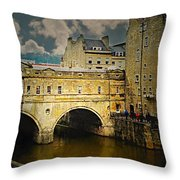Pulteney Bridge Throw Pillow