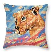 Puma On Watch Throw Pillow