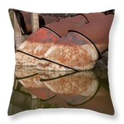 Pumphouse Intake Pipes Throw Pillow