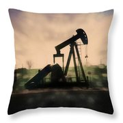 Pumpin Oil Throw Pillow
