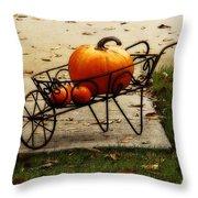 Pumpkin Barrow Throw Pillow