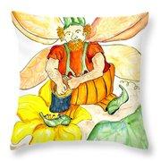Pumpkin Fairy Throw Pillow