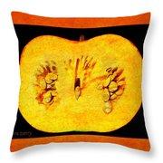 Pumpkin Half Throw Pillow