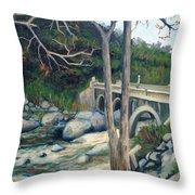 Pumpkin Hollow Bridge Throw Pillow