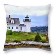 Pumpkin Island Light Throw Pillow