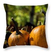 Pumpkin Line Up Throw Pillow