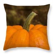 Pumpkin Macro 4 A Throw Pillow