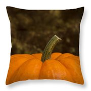 Pumpkin Macro 4 B Throw Pillow