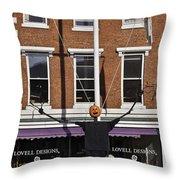Pumpkin Man Throw Pillow
