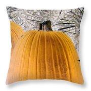 Pumpkin Patch - Photopower 1563 Throw Pillow