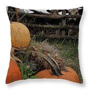 Pumpkin Peepers Throw Pillow