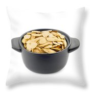 Pumpkin Seeds In A Black Cup Throw Pillow