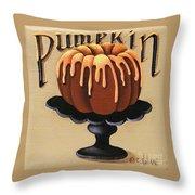Pumpkin Spice Cake Throw Pillow