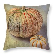 Pumpkin Textures Throw Pillow