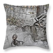 Pumpkin Thieves Climb Out Of Thier Hidden Places Throw Pillow