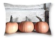 Pumpkin Trio Throw Pillow